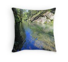Mosaic Waters Throw Pillow