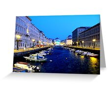 Canale di Ponterosso, Tieste, Italy (Channel of Red Bridge) Greeting Card