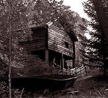 Boatshed, Sweden by Maggie Hegarty