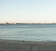Cape Coral Beach Pano  by John  Kapusta