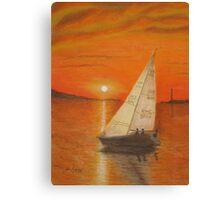 Sailing Home Canvas Print