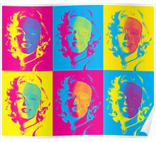 Marilyn's Pop Death in Cyan, Yellow and Magenta Poster
