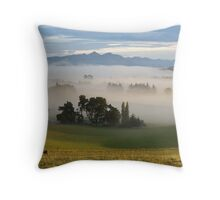 Morning in the Valley Throw Pillow