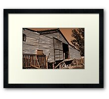 The Shearing Shed Framed Print