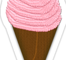 I Scream You Scream, We All Scream For Ice Cream - Strawberry Girly Fitted Short Sleeve Sticker