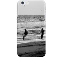 Fishermen net fishing  on the beach iPhone Case/Skin