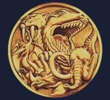 Mighty Morphin Power Rangers Megazord Coin One Piece - Short Sleeve