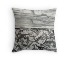 Devil's Golf Course (draft) Death Valley 2009 Throw Pillow