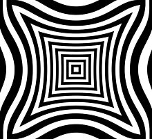 Curved Squares Op Art by 2HivelysArt