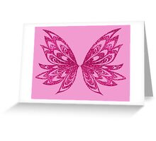 fairy wings pink shirt Greeting Card