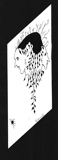 108 - TWO-FACED - DAVE EDWARDS - PEN & INK - c. 1985 by BLYTHART