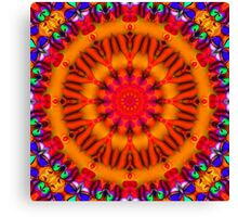 Psychedelic Happy Hippie Mandala Canvas Print