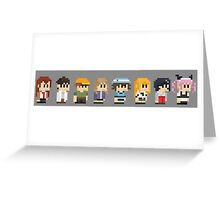 Steins gate anime characters Greeting Card