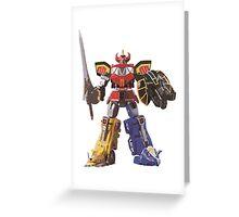 Mighty Morphin Power Rangers Megazord Greeting Card
