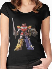 Mighty Morphin Power Rangers Megazord Women's Fitted Scoop T-Shirt