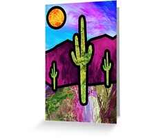 Desert Stained Glass Greeting Card
