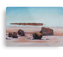 Mirage on Lake Ballard,Menzies Western Australia Metal Print