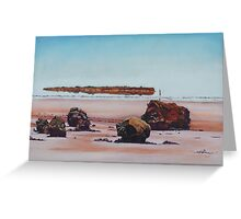 Mirage on Lake Ballard,Menzies Western Australia Greeting Card