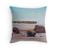 Mirage on Lake Ballard,Menzies Western Australia Throw Pillow