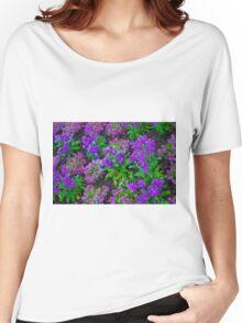 Lovely Purple Garden Flowers Women's Relaxed Fit T-Shirt