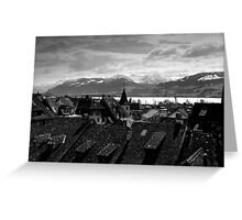 View To The Swiss Alps Switzerland Greeting Card