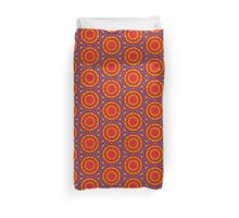 Psychedelic Happy Hippie Mandala Duvet Cover