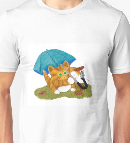 Umbrellas for Mouse and Kitty Unisex T-Shirt