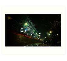 Esplanade, Central Calcutta - 9 P.M Art Print
