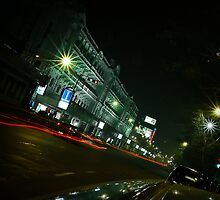 Esplanade, Central Calcutta - 9 P.M by Saikat Babin Biswas