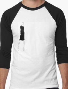 Collared Dress Men's Baseball ¾ T-Shirt