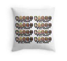 Princesses Print Throw Pillow