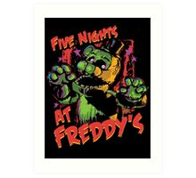 Five Nights At Freddy's Phantom Freddy Art Print
