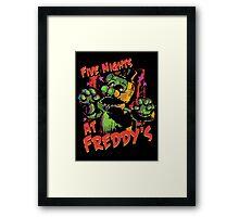 Five Nights At Freddy's Phantom Freddy Framed Print