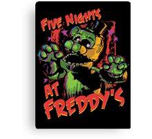 Five Nights At Freddy's Phantom Freddy Canvas Print