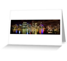 Brisbane Riverside, Australia, by Night Greeting Card