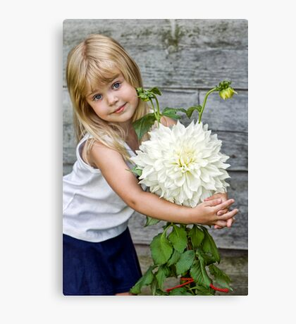 Dahlia Doll Canvas Print