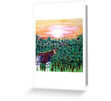The Lonely Okapi Greeting Card
