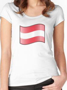 Flag of Austria  Women's Fitted Scoop T-Shirt