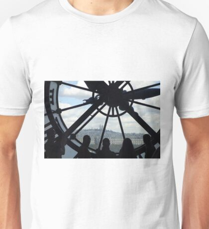 View from Musee d'Orsay Clock Tower Unisex T-Shirt