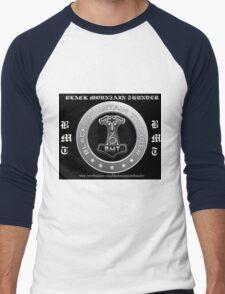 Black Mountain Thunder Black Logo Men's Baseball ¾ T-Shirt