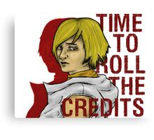 roll the credits Canvas Print