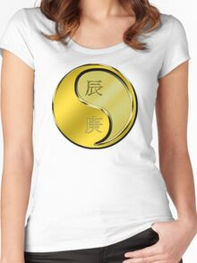Dragon Yang Metal Women's Fitted Scoop T-Shirt