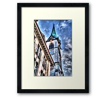 A Church In Old Zurich Town Framed Print
