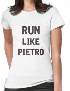 Run Like Pietro  Womens Fitted T-Shirt
