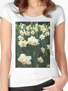 Daffodils, NYC Women's Fitted Scoop T-Shirt