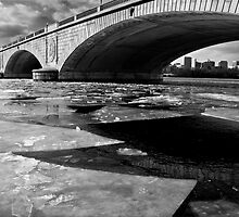 Memorial Bridge Over the Frozen Potomac River by Paul Bohman