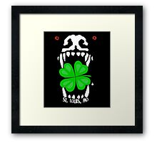 Bad Dog St Patty's Day Framed Print