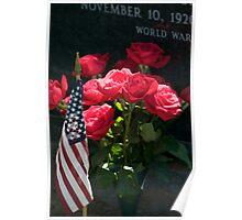 Memorial Day Roses in Arlington Cemetery Poster