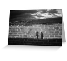 Friends at Dusk Sillouette Greeting Card