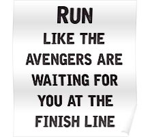 Run to the Avengers Poster